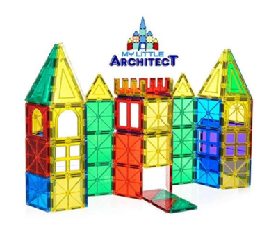 This is an image of a 3D Magnetic Blocks building kit for kids.