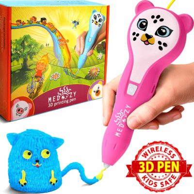 This is an image of a pink 3D art and craft pen set for kids.