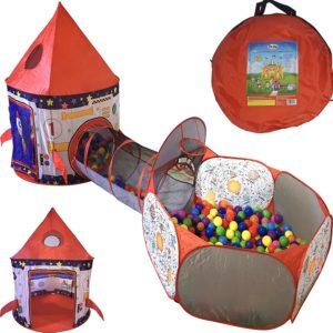 3pc Rocket Ship Astronaut Kids Play Tent