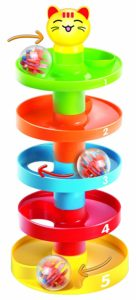 This is an image of a 5 Layer Ball Drop and Roll Swirling Tower by Cooltoys for babies.