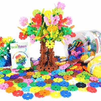 This is an image of a 500 piece colorful interlocking disc set for kids.