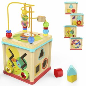 Activity Cube Toys Baby Educational Wooden Bead Maze