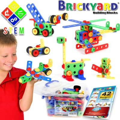 This is an image of a building block toy kit for kids.
