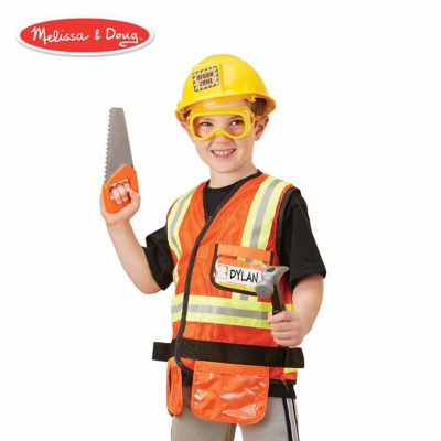 This is an image of a construction worker costumer set for kids.