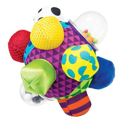 This is an image of a developmental bumpy ball designed for kids.