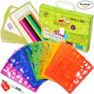 Drawing Stencils Set for Kids - Perfect Creativity Kit & Travel Activity