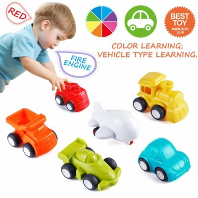 This is an image of a colorful toy cars for toddlers.