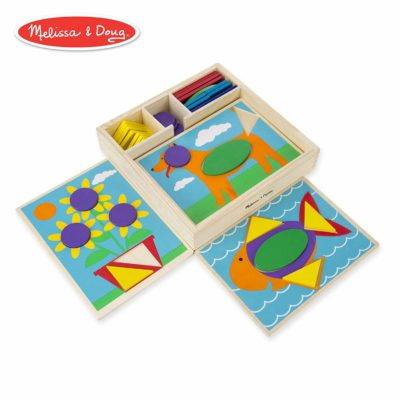 This is an image of an educational wooden blocks for kids.
