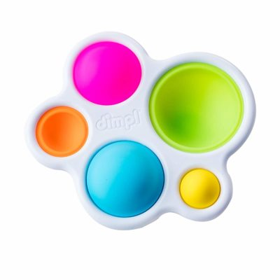 This is an image of a colorful silicone bubbles by Fat Brain Toys for kids.
