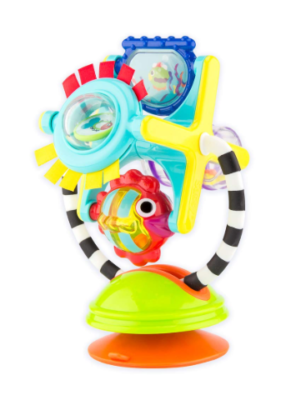 This is an image of a fishy fascination station suction cup toy by Sassy for babies.