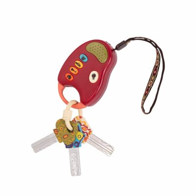 This is an image of a toy car keys with lights & sounds designed for kids.