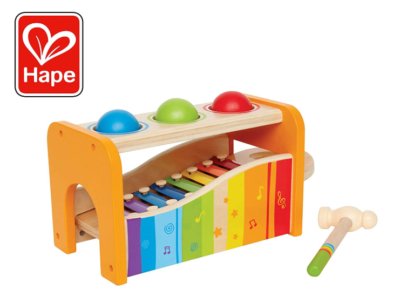 This is an image of a pound and tap bench musical toy for kids.