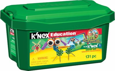 This is an image of a 131 piece K'NEX educational building set for kids.
