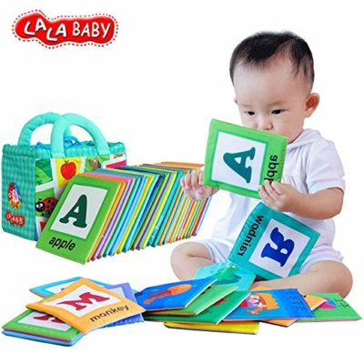 This is an image of a 26 Letters Cloth Card by Lalababy for babies.
