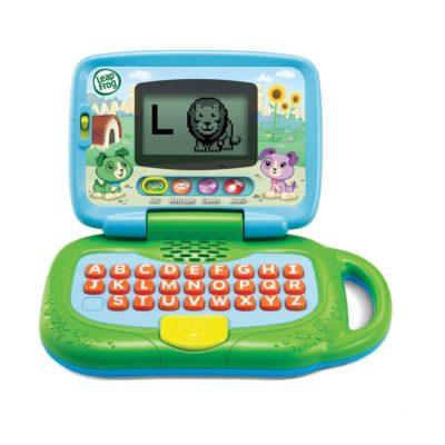 This is an image of a green My Own Leaptop for kids.