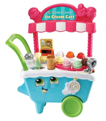 This is an image of a  scoop and learn ice cream toy cart for toddlers.