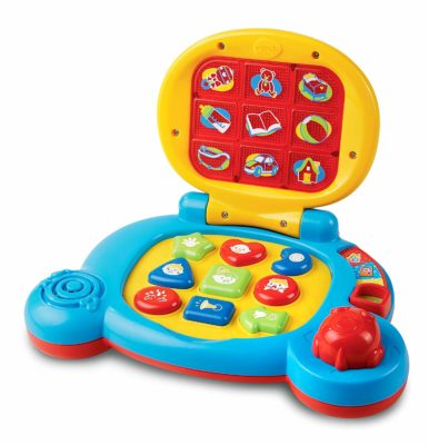 This is an image of a learning laptop toy for toddlers.