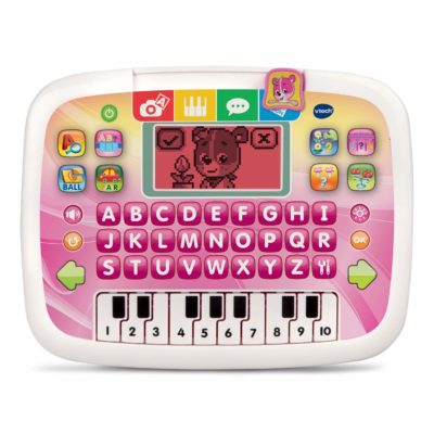 This is an image of a pink little apps tablet for toddlers.