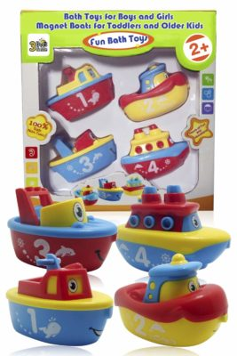 This is an image of a magnet boat bath toy for toddlers.