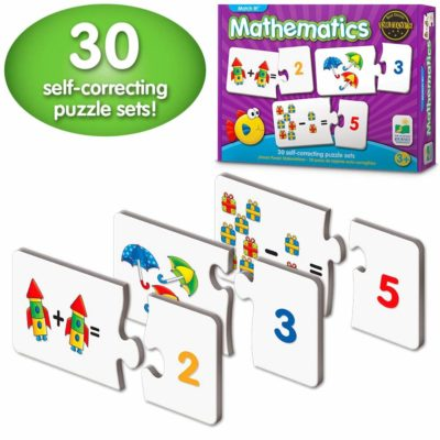 This is an image of a 30 mathematics matching pairs for kids.