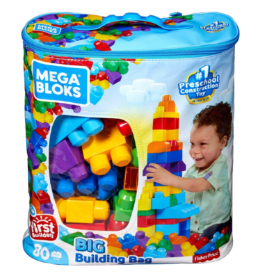 This is an image of a classic 80 piece building blocks for kids.