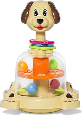 This is an image of a Doggy Spinner by MooToys designed for kids.