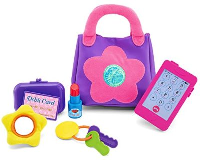 This is an image of an educational My First Purse for little girls.