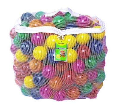 This is an image of a colorful pit balls by Click N' Play designed for babies.