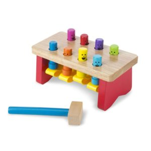 Pounding Bench Wooden Toy With Mallet