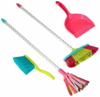 This is an image of a pretend play cleaning set for kids.