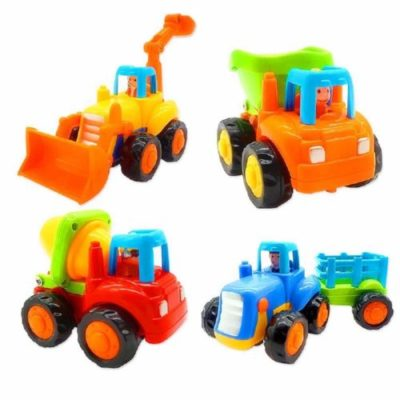 This is an image of a push and go toy trucks for toddlers.
