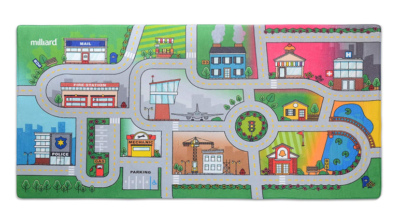 This is an image of a jumbo road play rug for kids.