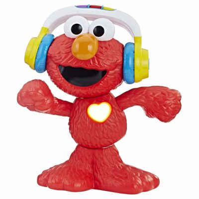 This is an image of a 12 inch musical red Elmo toy for toddlers.
