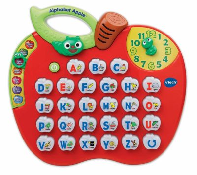 This is an image of an alphabet apple by Vtech for kids.