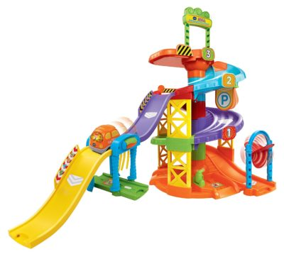 This is an image of a Smart Wheels Spinning Spiral Tower Playset for toddlers.