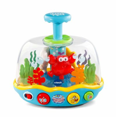 This is an image of a Learn and Spin Aquarium by Vtech designed for 1 year old kids.
