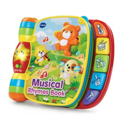 This is an image of a musical rhymes book by VTech fior babies.