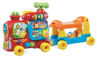 This is an image of a Ultimate Alphabet Train by Vtech designed for kids.