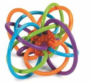 Winkel Rattle and Sensory Teether Toy