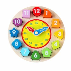 Wondertoys Wooden Shape Sorting Clock