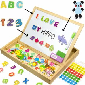 Toy XL Wood Magnetic Letters/Numbers/Animal Set