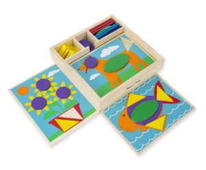 Wooden Pattern Blocks Educational Toy