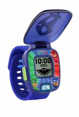 This is an image of a blue PJ Mask Catboy learning watch for kids.