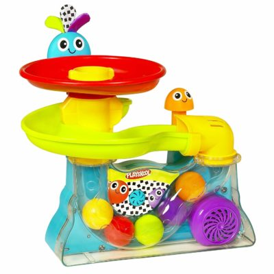 This is an image of an explore ball popper by Playskool for babies.