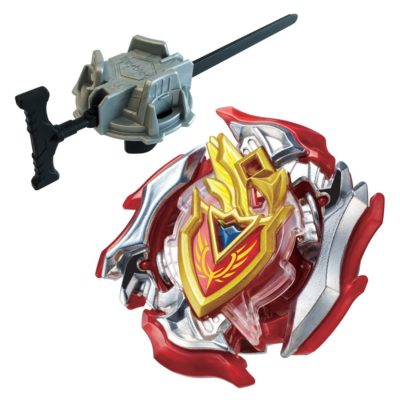This is an image of a Zet Achilles beyblade with launcher.