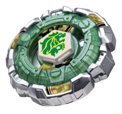 This is an image of a green Fang Leone bayblade.