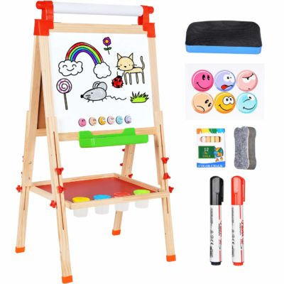This is an image of a wooden magnetic easel by Amagoing.