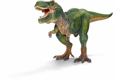 This is an image of a T-Rex dinosaur toy by Schleich.