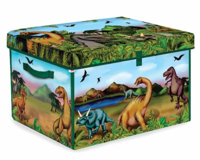 This is an image of a 160 piece dinosaur playset by ZipBin.