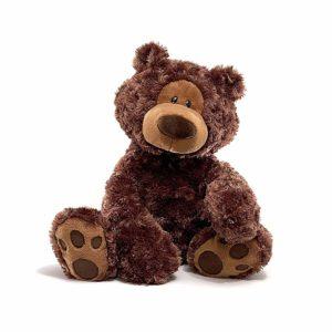 Chocolate colored plush teddy bear